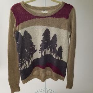 Billabong brown High/Low Acrylic Sweater S/P